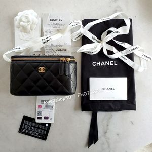 BNWT Chanel Small Vanity with Classic Gold Chain